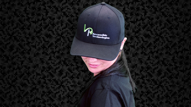 LP Accessible Technologies Black Flex Fit Hat